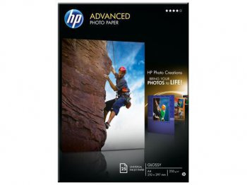 Бумага HP Q5456A A4 Advanced Photo Glossy, 250 g/m, (25 sheets)