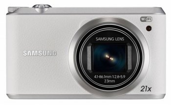 "Фотокамера Samsung WB350F white 16.3Mpix Zoom21x 3"" 720p SDHC CMOS IS opt TouLCD HDMI WiFi Li-Ion"