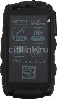 "Смартфон Ginzzu RS61D черный моноблок 3G 2Sim 4.0"" And4.2 WiFi BT GPS"