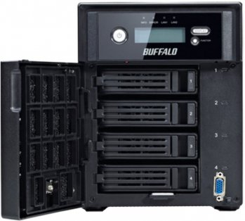 Сетевое хранилище Buffalo TeraStation 5400RackMount Windows Storage Server 2012 SATA 4x4Tb 7.2K 1Ctrl Ethernet RAID 0/1/5/JBOD (WS5400R1604-EU)