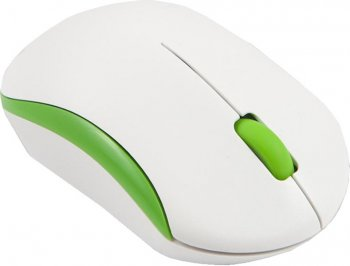 Мышь беспроводная Mediana WM-350 white/green optical wireless (1000dpi) 3but