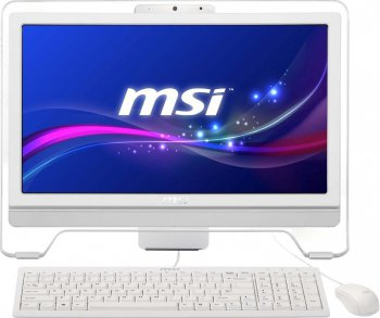 "Моноблок MSI AE203G-012RU 19.5"" HD Touch i3 4150/4Gb/500Gb/GT740M 2Gb/DVDRW/DOS/WiFi/white/250cd/1000:1 1600*900/Web/клавиатура/мышь"