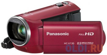 Видеокамера Panasonic HC-V130EE-R Red <FullHD, 1080P, 38x zoom, SD, HDMI>