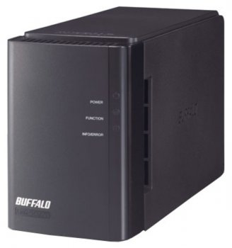 Сетевое хранилище Buffalo LinkStation Duo SATA 2x1Tb 7.2K 1Ctrl Ethernet (LS-WX2.0TL/R1-EU)