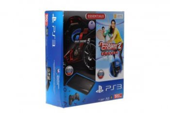 Игровая приставка Sony PlayStation 3 +Sports Champions 2+Gran Turismo 5+PlayStation Move+PlayStationEye+ Dualshock 3 черный 500ГБ