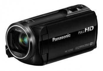 "Видеокамера Panasonic HC-V250 black 1CMOS 50x IS opt 2.7"" 1080p SDHC Flash Flash"