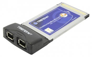 Адаптер интерфейса TRENDnet <TFW-H2PC> 2-Port FireWire Host PC Card (RTL) IEEE 1394