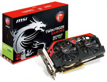 Видеокарта MSI PCI-E nVidia N760 TF 4GD5/OC GeForce GTX 760 Twin Frozr 4096Мб 256bit GDDR5 1020/6008 DVI*2/HDMI/DP/HDCP RTL