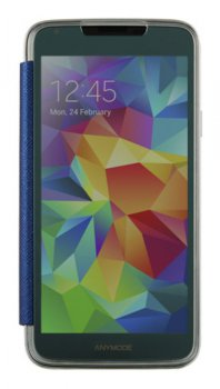 Чехол Anymode для Galaxy S 5 F-DMMF000KBL синий in flip cover jewel saffiano pattern (F-DMMF000KBL)