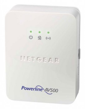 Адаптер Powerline (HomePlug) Netgear (XWN5001-100PES)Powerline AV 500 Мбит/с. 1xLAN. точка доступа 802.11n 300 Мбит/с
