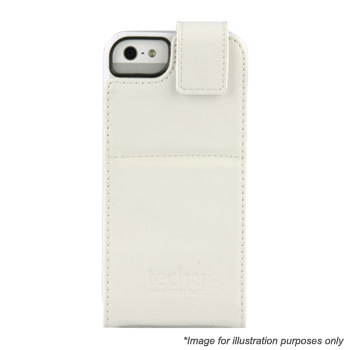 Чехол Tech21 для iPhone5 Impact Flip Leather white (T21-1826)