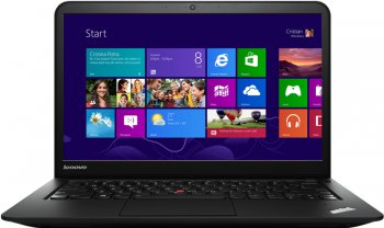 "Ноутбук Lenovo ThinkPad S440 Core i5-4200U/4Gb/128Gb SSD/DVDRW/HD4400/14""/HD+/Mat/Win 7 Professional 64/black/+Win8 Pro Upgrade RDVD/4c/WiFi/Cam"