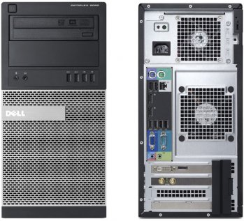 Системный блок Dell Optiplex 9020 MT i5 4570 (3.2)/2x2Gb/500Gb 7.2k/IntHDG/DVDRW/Win 7 Prof 64 upgrade to Windows 8 Prof 64 /клавиатура/мышь/3yr Basic
