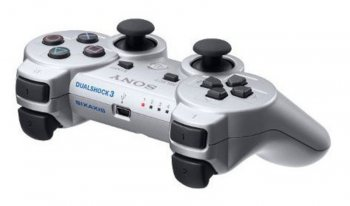 Контроллер Sony PlayStation 3 Dualshock silver (PS719256137)