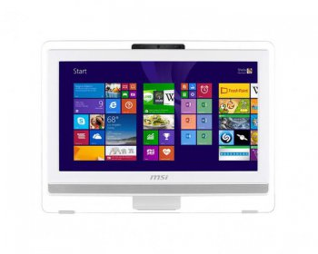 "Моноблок MSI AE203G-011RU 19.5"" HD Touch i3 4150/4Gb/500Gb/GT740M 2Gb/DVDRW/DOS/WiFi/white/250cd/1000:1 1600*900/Web/клавиатура/мышь"