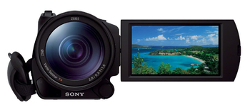 "Видеокамера Sony `HDR-CX900EB black 1CMOS 12x IS opt 3.5"" 1080p 0 SDHC Flash WiFi Wi-Fi/NFC"