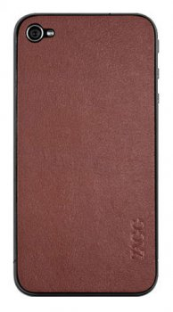 Наклейка Наклейки Zagg для iPhone 4/4S LEATHERskin коричневый (LSBRNZAGG73)