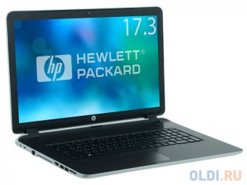 "Ноутбук hp Pavilion 17-f257ur <L2E41EA> i7-5500U (2.4)/8G/1T/17.3""HD/NV 840M 4G/DVD-SM/BT/Win8.1 (Natural silver)"