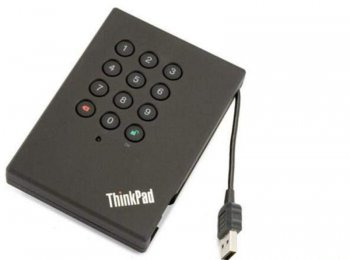 Внешний жесткий диск Lenovo ThinkPad USB 3.0 Secure Hard Drive (0A65616)