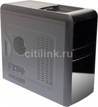 Корпус Foxconn TLM-059 черный 400W mATX 1x80mm 2xUSB2.0 audio AirDuct