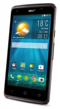 "Смартфон Acer Liquid Z410 черный моноблок 3G 4G 2Sim 4.5"" 540x960 Android 4.4 5Mpix WiFi BT GPS GSM900/1800 GSM1900 TouchSc MP3 8Gb microSD"