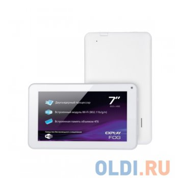 "Планшетный компьютер Explay Fog A23 2C DC/RAM512Mb/ROM4Gb/7"" TFT 800*480/WiFi/And4.2.2/white"