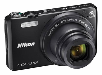 "Фотокамера Nikon CoolPix S7000 черный 16Mpix Zoom20x 3"" 1080p 20Mb SDXC CMOS IS opt 2minF HDMI/WiFi/EN-EL19"