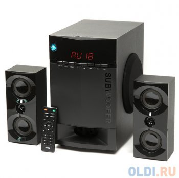 Колонки Dialog Progressive AP-230 BLACK 2.1, 35W+2*15W RMS, Bluetooth, USB+SD reader