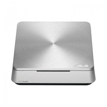 Неттоп Asus VivoPC VM42-S124V SL Cel 2957U (1.5)/4Gb/500GbHDG/CR/Windows 8.1 Bing/GbitEth/WiFi/BT/65W/серебристый/черный