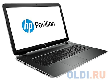 "Ноутбук hp Pavilion 17-f256ur <L2E39EA> i5-5200U (2.2)/8G/750G/17.3""HD/NV 830M 2G/DVD-SM/BT/Win8.1 (Natural silver)"