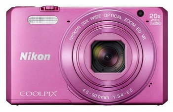 "Фотокамера Nikon CoolPix S7000 розовый 16Mpix Zoom20x 3"" 1080p 20Mb SDXC CMOS IS opt 2minF HDMI/WiFi/EN-EL19"