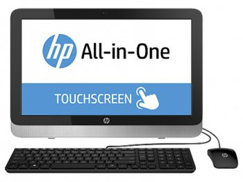 "Моноблок HP Pavilion 22-2030nr 22"" Touch Cel G1840T/4Gb/500Gb/HDG/DVDRW/Windows 8.1/клавиатура/мышь"