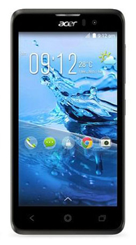 "Смартфон Acer Liquid Z520 черный моноблок 3G 2Sim 5"" 480x854 Android 4.4 8Mpix WiFi BT GPS GSM900/1800 GSM1900 TouchSc MP3 8Gb microSD"