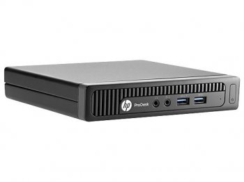 Системный блок Мини HP ProDesk 600 G1 SL i3 4160T (2.9)/8Gb/1TbHDG4400/Windows 8.1 Professional 64 dwnW7Pro64/Eth/клавиатура/мышь/черный