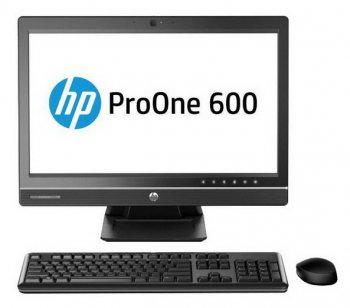 "Моноблок HP ProOne 600 G1 21.5"" 1920x1080 i5 4590S (2.9)/4Gb/1Tb 7.2k/HD7650A 2Gb/DVDRW/CR/Windows 8 Professional 64 dwnW7Pro64/GbitEth/WiFi/BT/180W/к"
