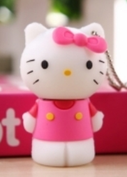 Накопитель USB 8Gb Hello Kitty Pink White