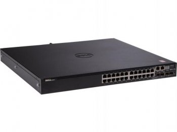 Коммутатор Dell N3024 24x1GbE +2comb.ports+ 2x10GbE SFP+ fixed ports+10GbE,stacking (210-ABOD-1)