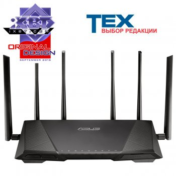Маршрутизатор ASUS RT-AC3200 Tri-band Gigabit Router (RTL)