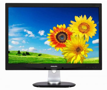 "Монитор Philips 23.6"" 240P4QPYNB (00/01) черный IPS LED 14ms 16:10 DVI матовая 300cd 1920x1200 D-Sub DisplayPort 1080p USB 3.66кг"
