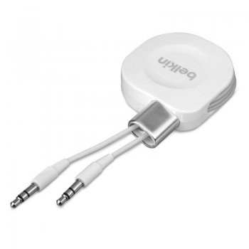 Кабель Belkin AV10143yw1M-APL Jack 3.5 (m)-Jack 3.5 (m) 1м Retractable