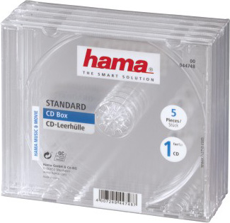 Коробка Hama H-44748 Jewel для 1 CD 5 шт. прозрачный