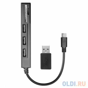Картридер Ginzzu EXT GR-513UB OTG/PC & 3 port USB 2,0 hub