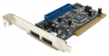 Контроллер SATA (2ext/2int) + UDMA 133 1-port PCI STLab A-230 (VIA 6421) RaiD RTL