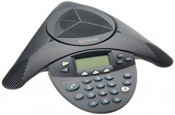Стационарный телефон Polycom SoundStation2 (analog) conference phone with display. Non-expandable. Includes 220V-240V AC power/telco module, power cor