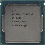 Процессор Intel Core i5-6400 2.7 GHz / 4core / SVGA HD Graphics 530 / 1+6Mb / 65W / LGA1151