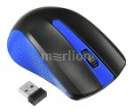 Мышь беспроводная OKLICK Wireless Optical Mouse <485MW> <Black&Blue> (RTL) USB 3btn+Roll <997826>