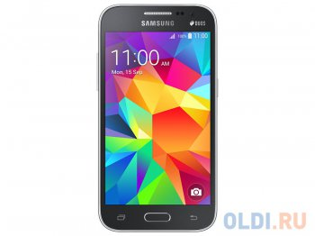 "Смартфон Samsung SM-G361H/DS Galaxy Core Prime VE Charcoal Gray 4.5""(WVGA) TFT, quad core CPU, 8 Гб, 1024 RAM, 3G, камера 5 Мп, 2000mAh"
