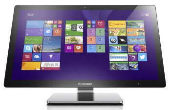 "Моноблок Lenovo A740 AIO Touch i5 5257U/8Gb/1Tb/SSHD8Gb/GT940A 2Gb/DVDRW/Windows 8.1 64/клавиатура/мышь/Cam/серебристый 27"" 1920x1080"