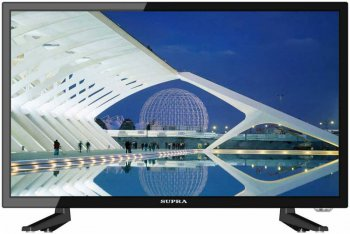 "Телевизор-LCD 23.6"" Supra S-LC24ST100FL черный/FULL HD/50Hz/DVB-T2/DVB-C/USB/WiFi (RUS)"