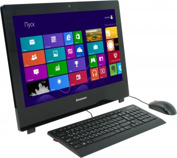 "Моноблок Lenovo S50 30 23"" Full HD P 3805U/4Gb/500Gb/HDG/DVDRW/Windows 8.1 64/WiFi/Cam/черный 1920x1080"